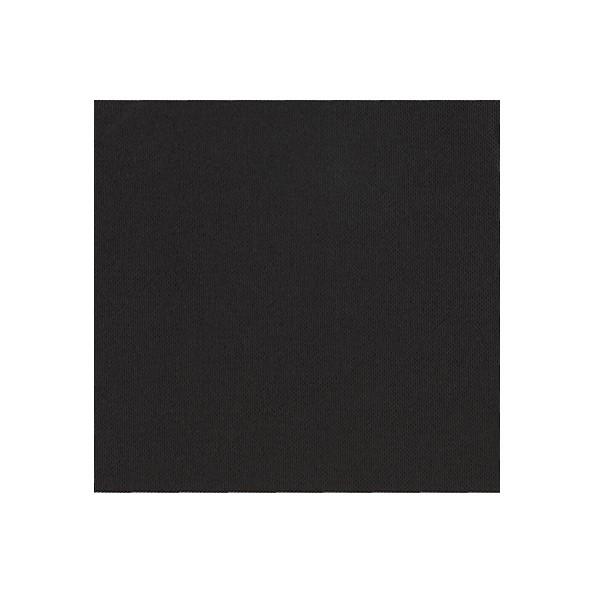 Serviette Cocktail CELI OUATE Noire Ebene 20x20 dépliée