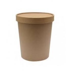 Couvercle Kraft Brun pour Pot à Soupe 35cl