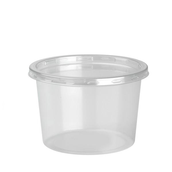 pot rond a dessert jetable 28 cl avec couvercle