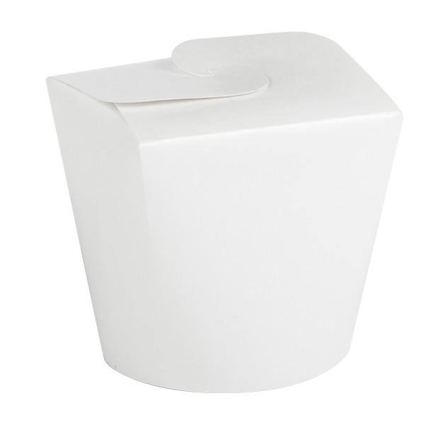 pasta box blanche en carton 80 cl vente a emporter