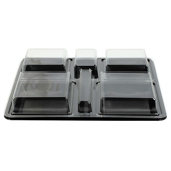 plateau repas jetable plastique avec compartiments