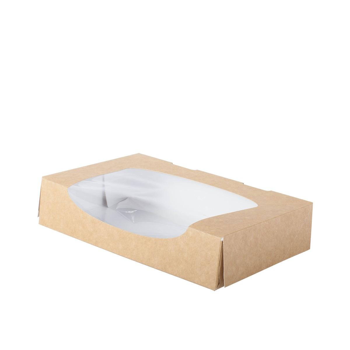 boite snacking carton avec fenetre transparente vente à emporter