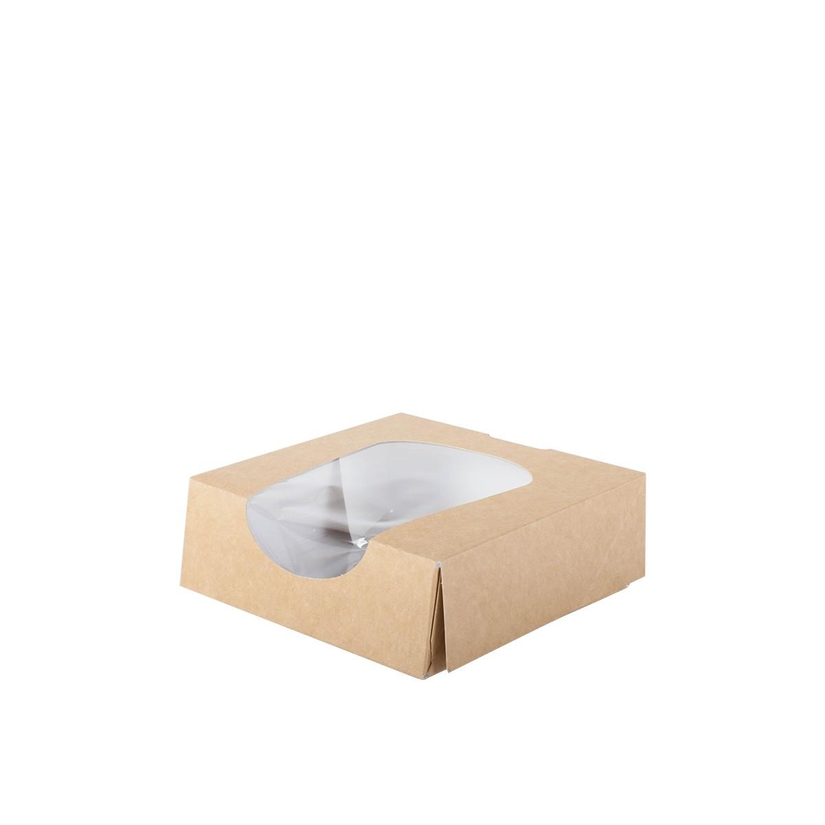 boite carton pâtisserie avec fenêtre transparente