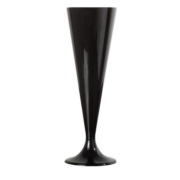 flute champagne plastique noire 13 cl