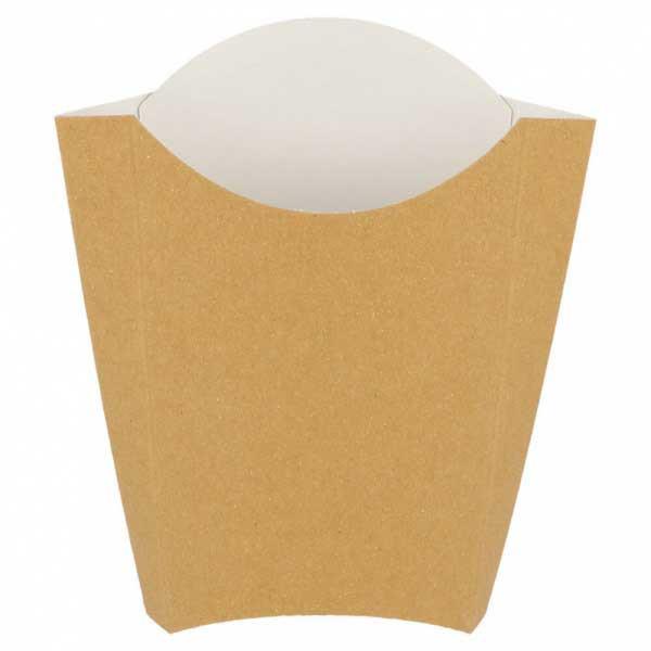 etui à frites carton kraft brun