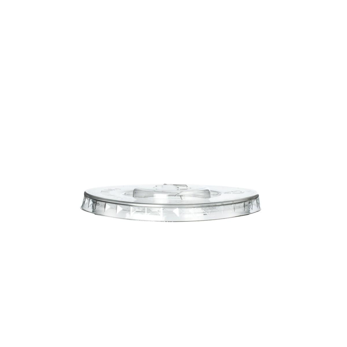 Couvercle plat pour gobelet en plastique recycle 20 et 25 cl