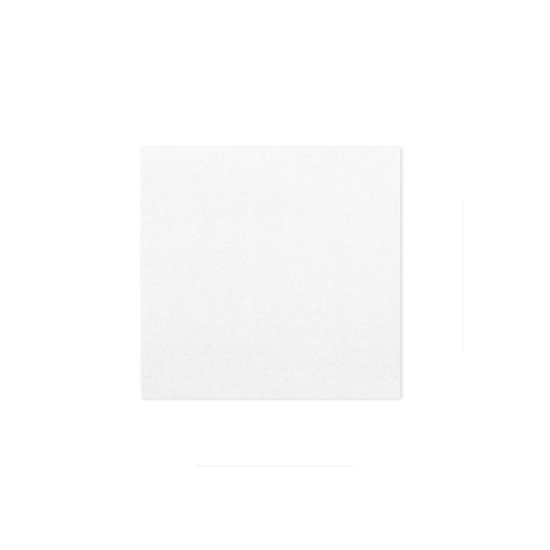 serviette jetable blanche 24 cm 2 plis