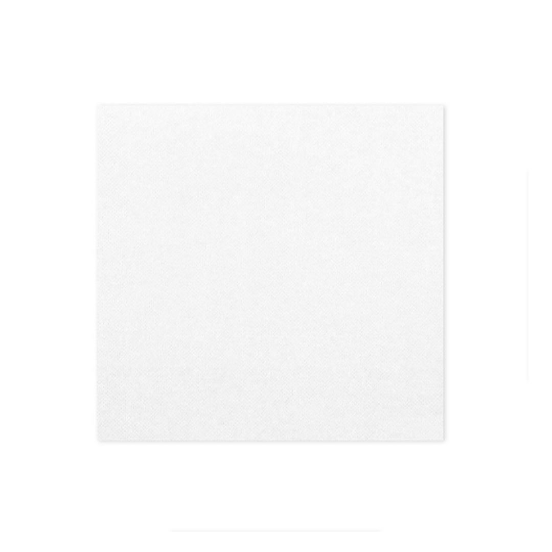Serviette blanche 33x33 2 plis