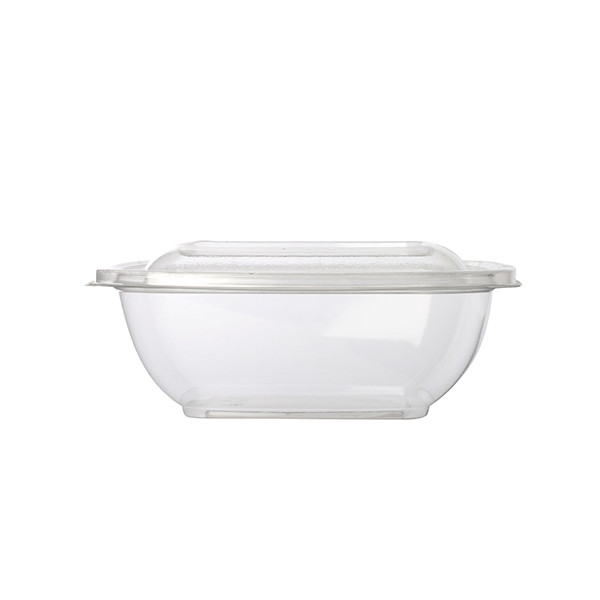 saladier jetable carré transparent 37.5 cl pour vente a emporter