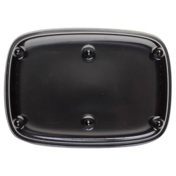 Grande assiette noire avec couvercle pour plateau repas U/ME