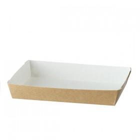 Barquette carton CUBIK NATURAL 180x130