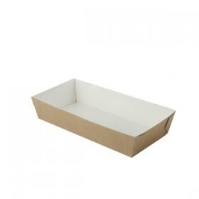 Barquette carton CUBIK NATURAL 130x65