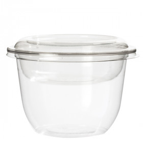 Pot à dessert base arrondie en PET 300 ml