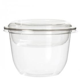 Pot à dessert base arrondie en PET 300 ml