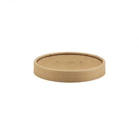Couvercle kraft brun pour pot carton 24 et 35 cl