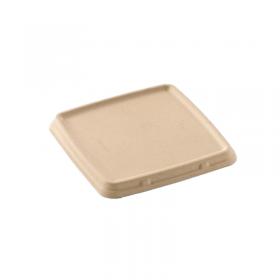Couvercle carré en pulpe pour Boite Repas 3 compartiments